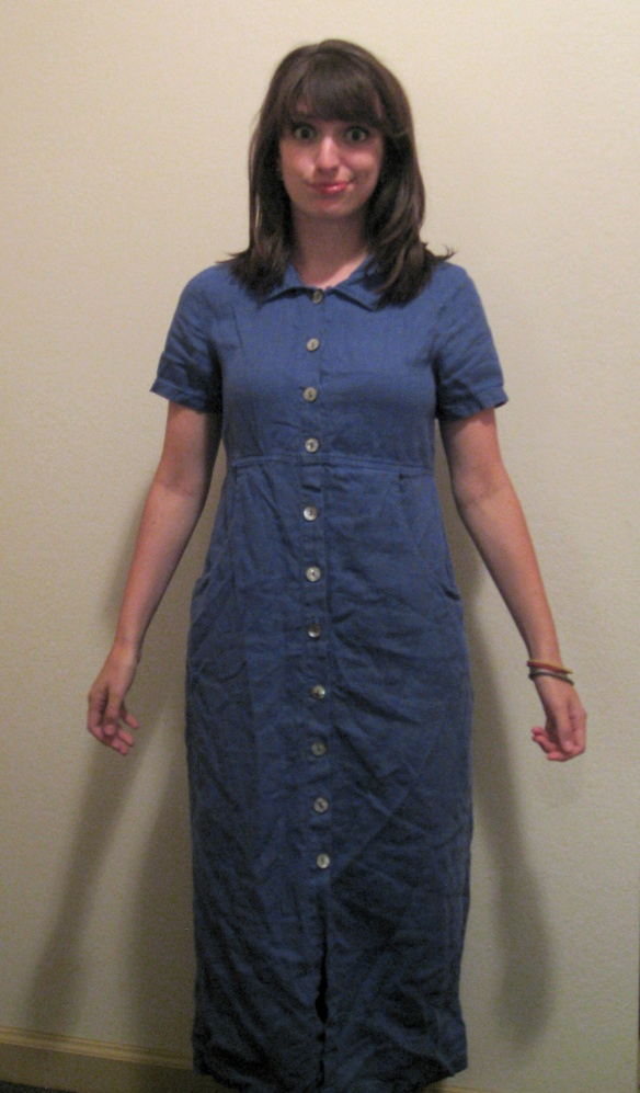 Craftsicles: Big, Blue, and Buttoned Dress Refashion