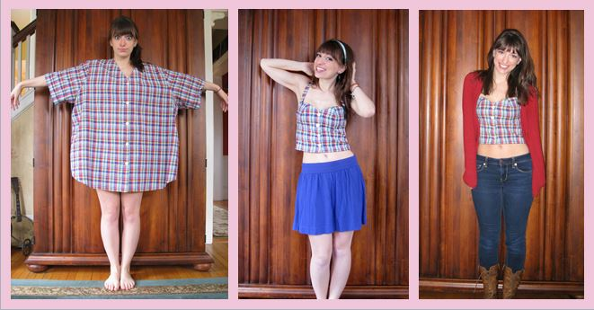 buttoned-shirt-refashion-crop-top-before-and-after-diy