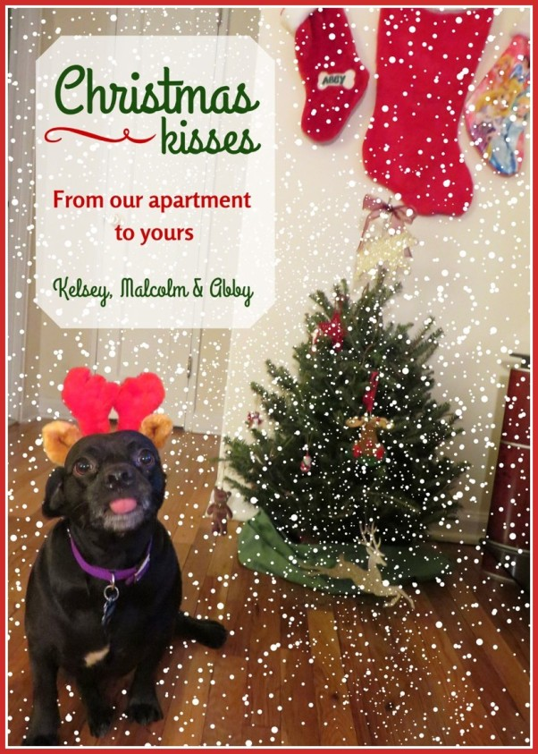 Merry Christmas from the Cheerful Times and Abby the Puggle