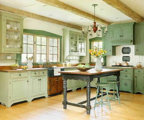 Pretty classic green kitchen