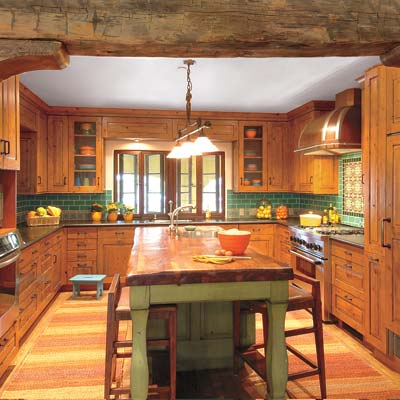 rustic antique wood kitchen