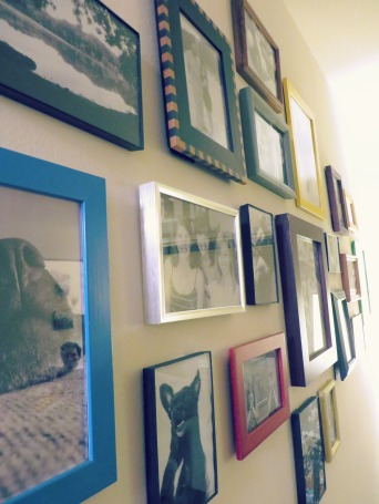 DIY photo picture frame collage