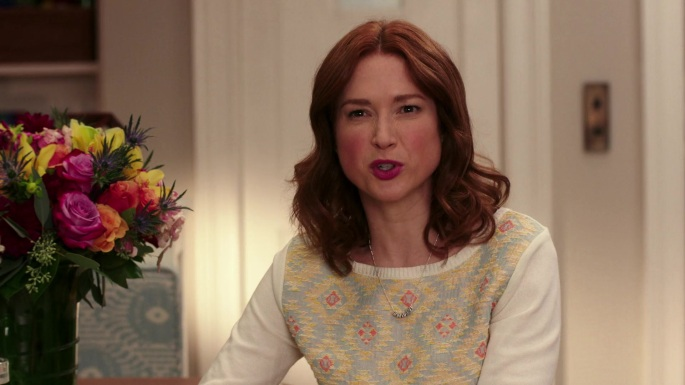 Unbreakable Kimmy Schmidt fashion - Kimmy's in a Love Triangle sweater nice compliment