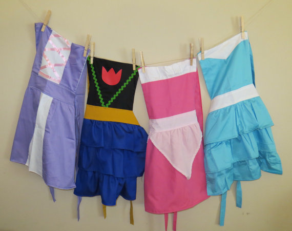 Child-sized Disney princess apron - Etsy products