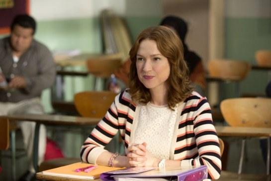 Unbreakable Kimmy Schmidt fashion - Kimmy goes to school striped sweater