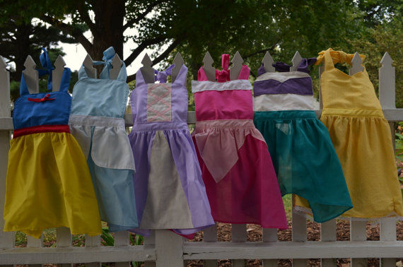 adult-sized Disney princess aprons - Etsy products