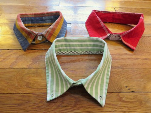 DIY upcycled collared dress shirt dog collar craft