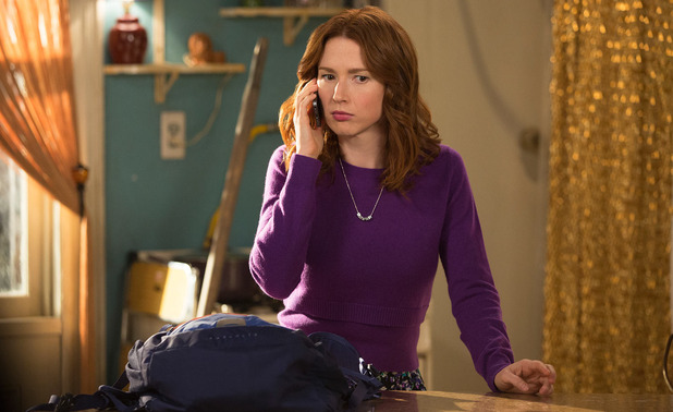 Unbreakable Kimmy Schmidt fashion - Kimmy is Bad at Math purple sweater