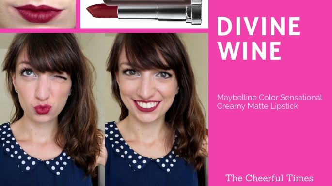 Divine Wine - Maybelline Color Sensational Creamy Matte drugstore lipstick review | The Cheerful Times
