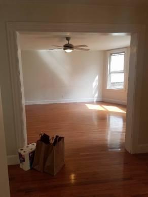 hallway and living room